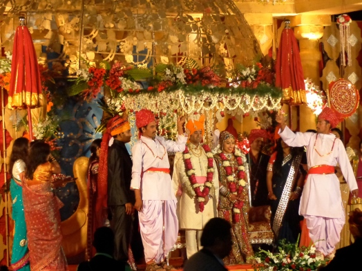 The bride and groom at a Jain wedding