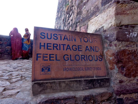 An inspirational message at Ranthambhore Fort.