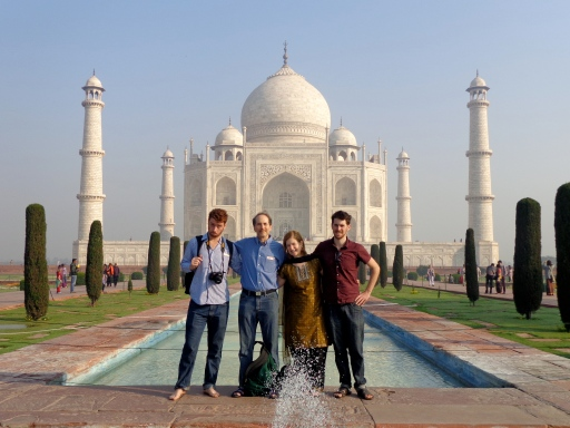 Soltoff family at India's most famous monument